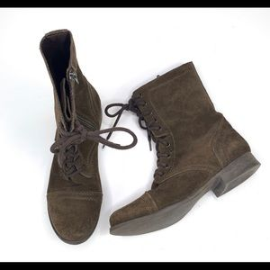 Steve Madden Troopa Suede Lace-Up Combat Boots
